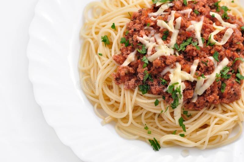 Italian food. In white bowl royalty free stock photos