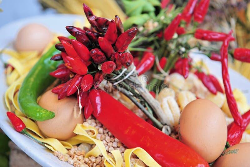 Italian Food Assortment stock image