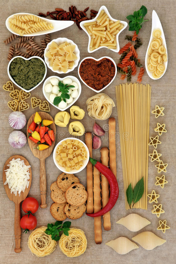 Italian Food Collage stock images