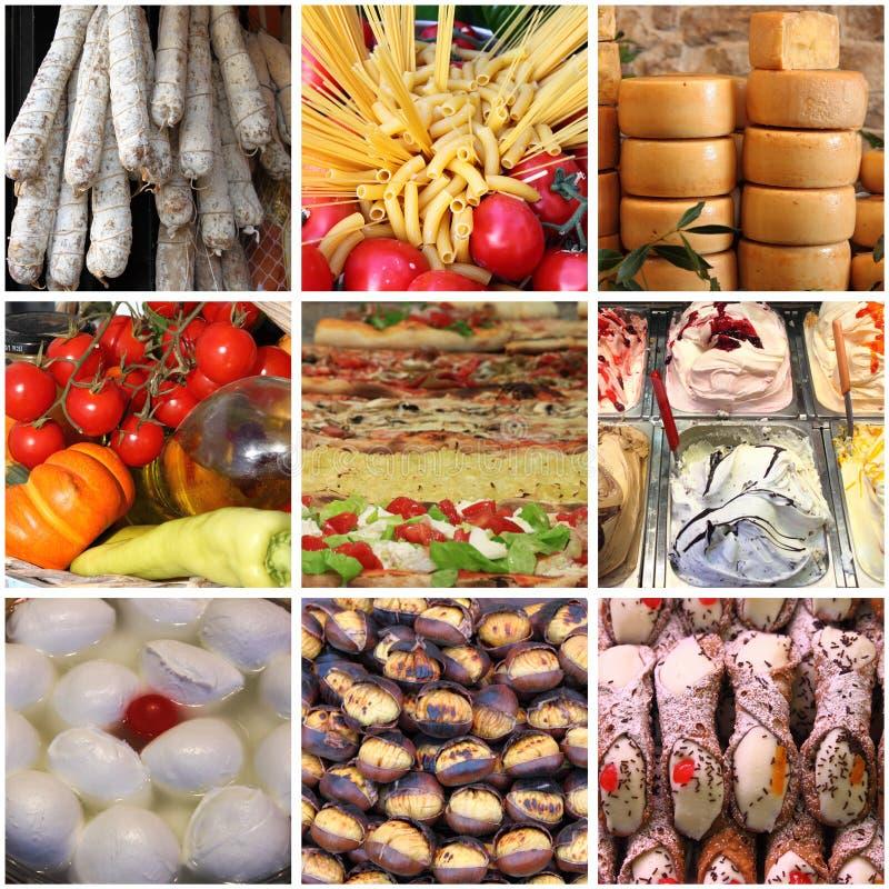 Italian food collage royalty free stock image