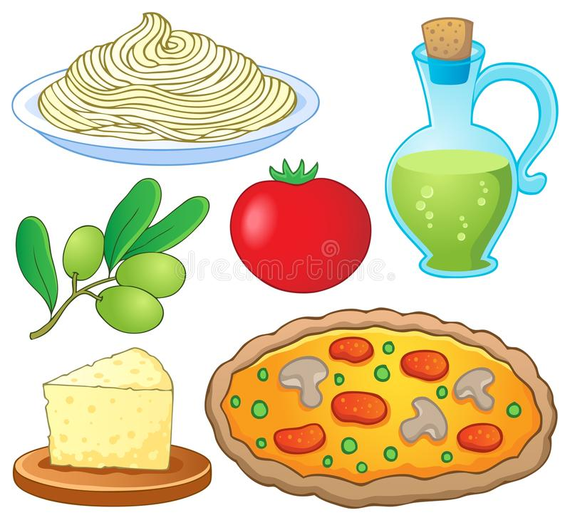 Download Italian food collection 1 stock vector. Image of food - 26086217