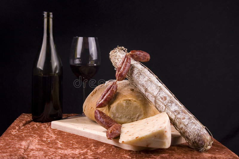 Italian food composition royalty free stock photography