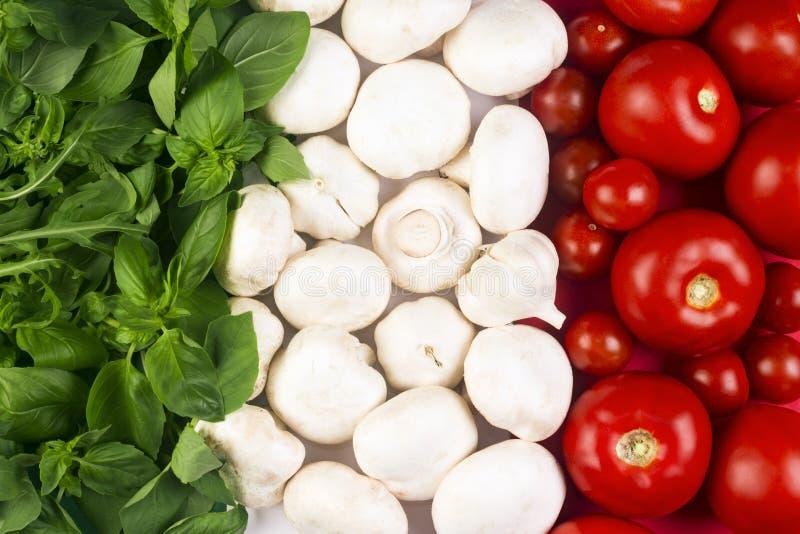 Italian food flag royalty free stock image