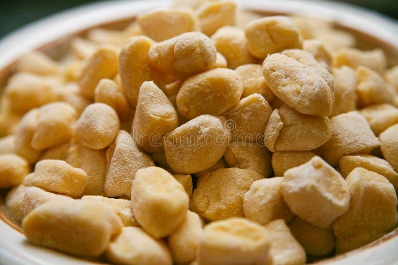 Italian food hand made gnocchi stock photo