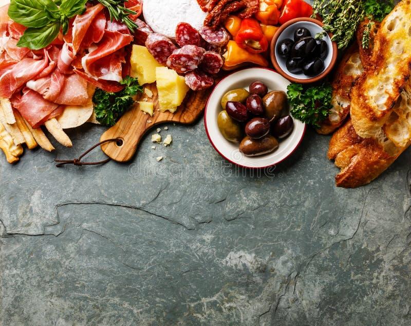 Italian food ingredients background royalty free stock photos