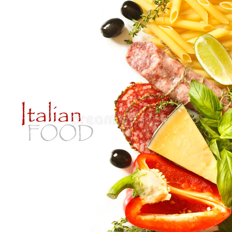 Italian food. royalty free stock photos