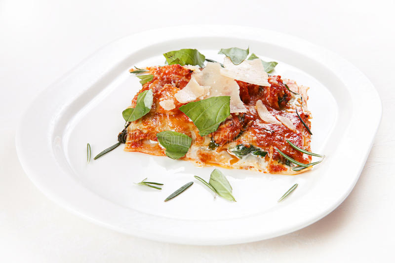 Italian food lasagna royalty free stock images