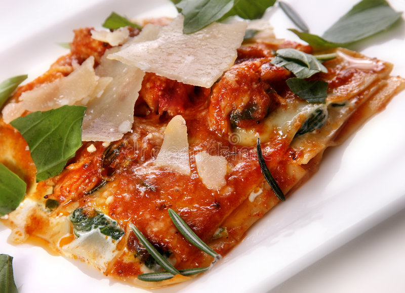 Italian food lasagna stock image