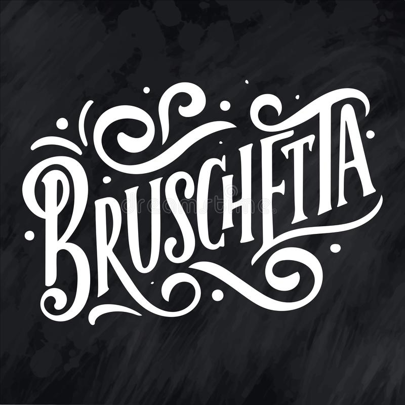 Italian Food Restaurant Names: Names Of Dishes. Lettering , Stylized