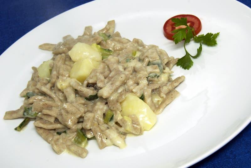 Italian food - pizzoccheri royalty free stock photo