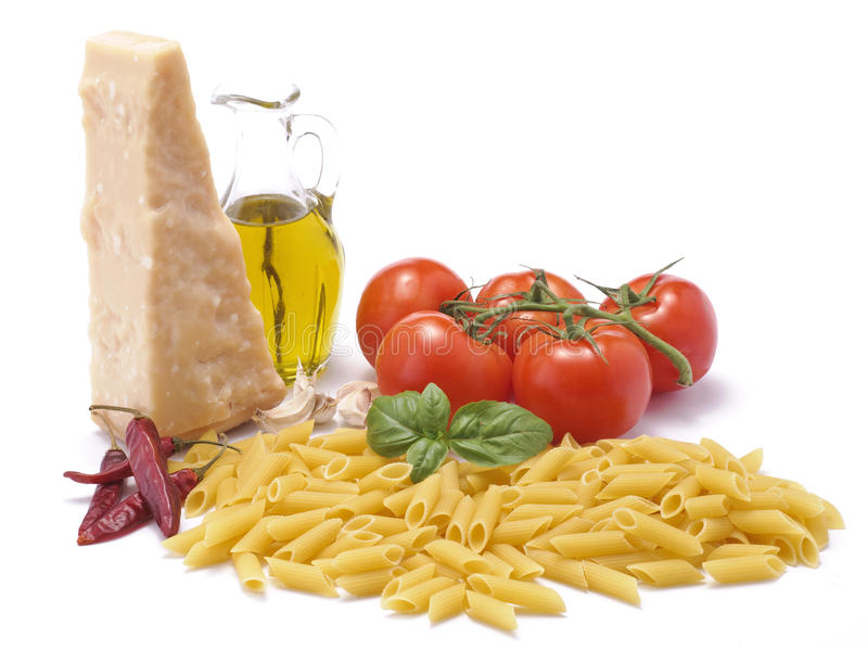 Italian food products of the traditional culture royalty free stock photos