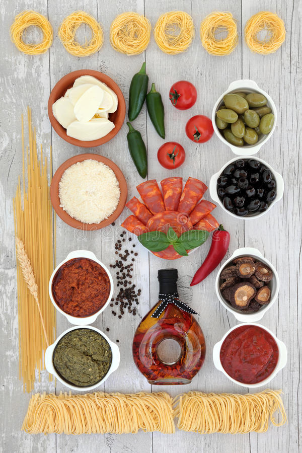 Italian Food Secletion stock photo