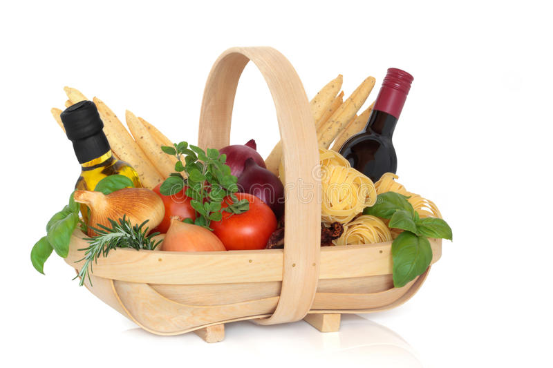 Italian Food Selection stock images