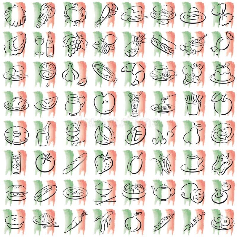 Italian food symbols royalty free stock photos