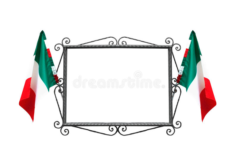 Italian Frame With Flags Stock Images