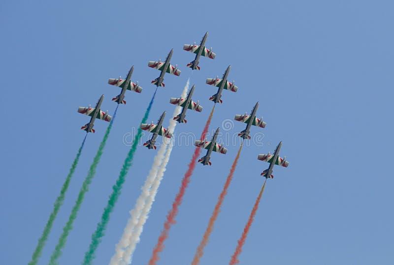 Italian Frecce Tricolori royalty free stock photos