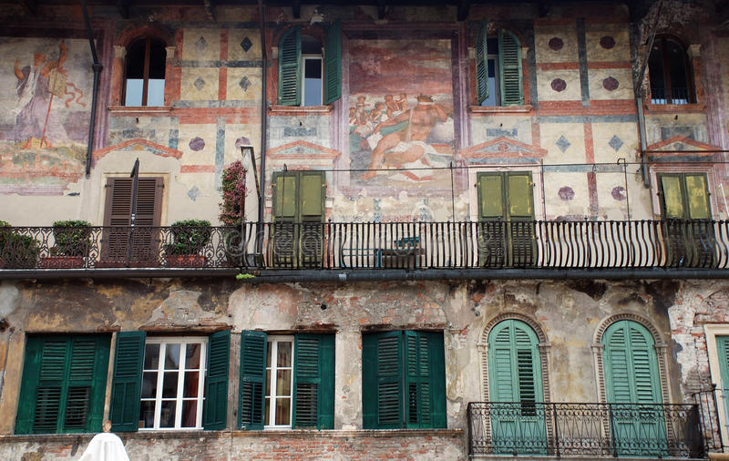 Italian Fresco wall stock photography