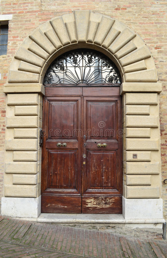Download Italian front door stock photo. Image of pavement, handle - 36043806