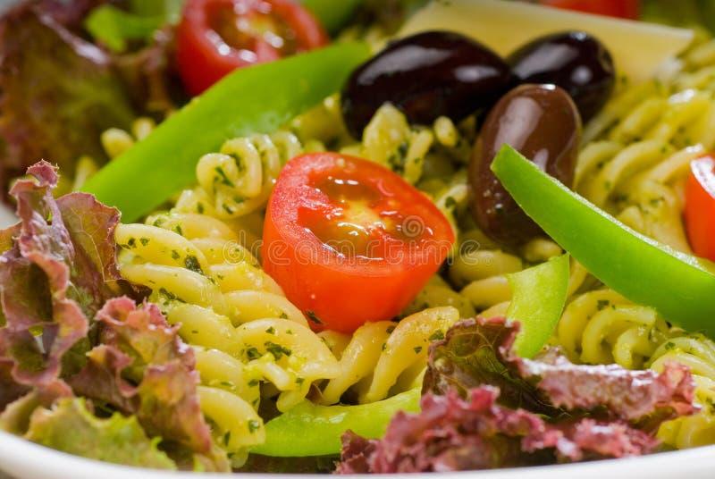 Italian Fusilli Pasta Salad Stock Photo