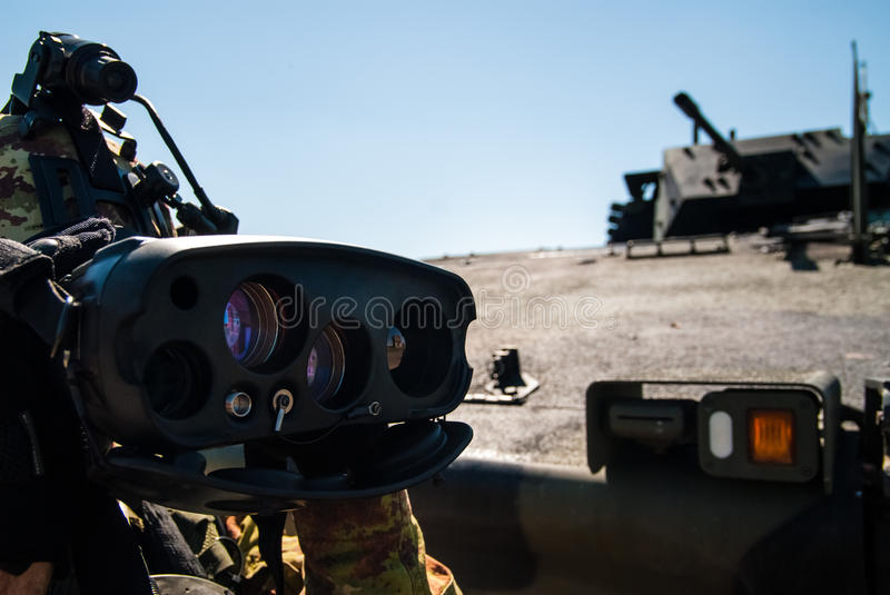 Italian future soldier project stock photography