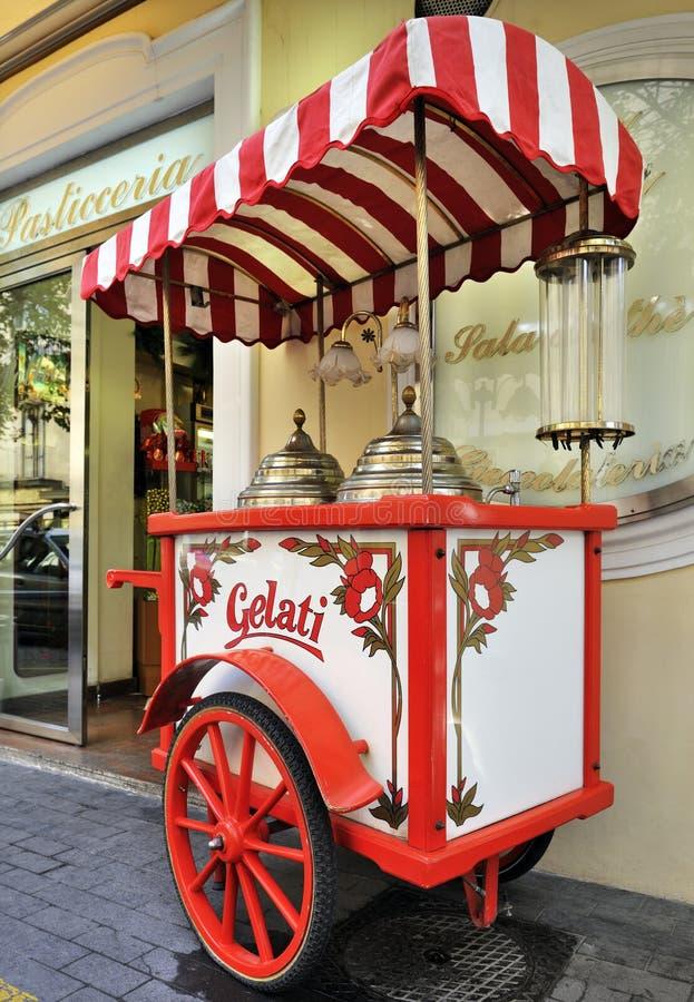 Italian gelati cart stock photo