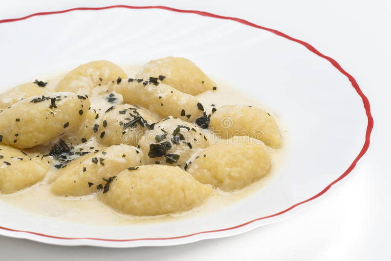 Gnocchi With Four Cheese Sauce Stock Photography