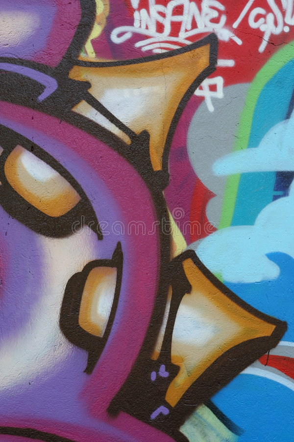 Italian Graffiti n.4808 royalty free illustration