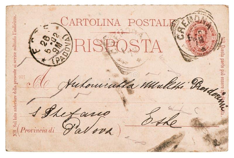Italian handwritten postcard letter royalty free stock photography