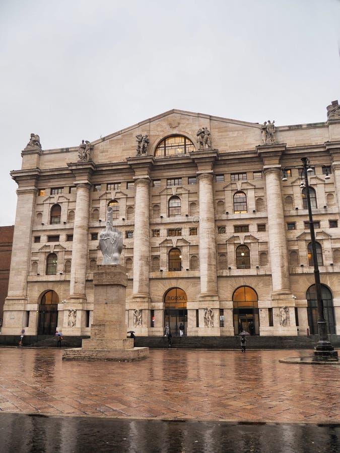 Italian Stock Exchange In Milan Stock Image - Image of ...