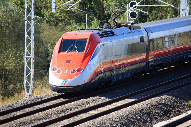 Download Italian High Speed Train Passing By Editorial Photography - Image: 21139017
