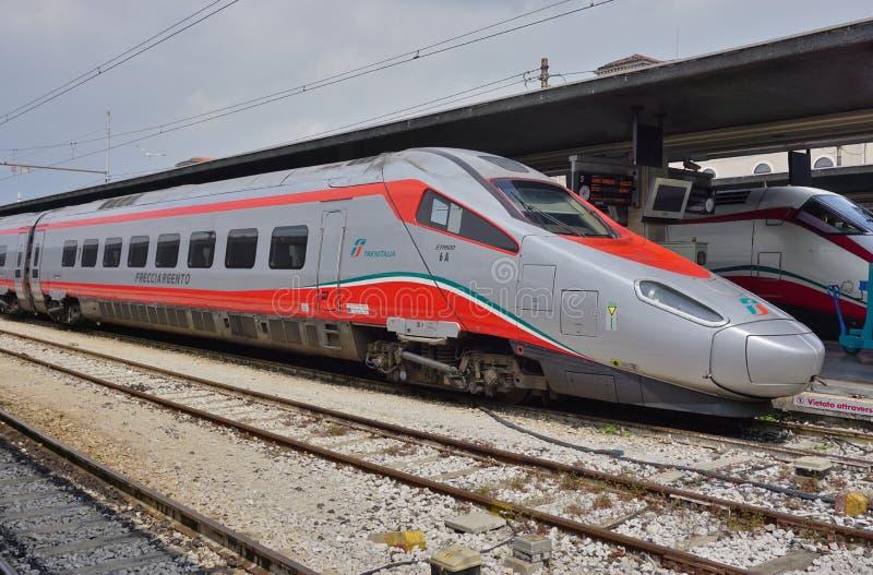 An Italian high speed train at the Venice station royalty free stock photos