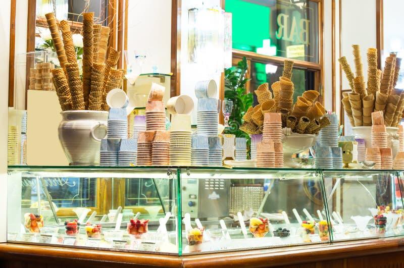 Italian ice cream bar stock images