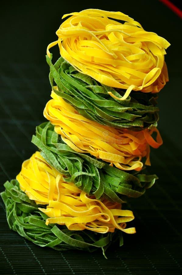 Italian iconic food: fettuccine pasta royalty free stock photo
