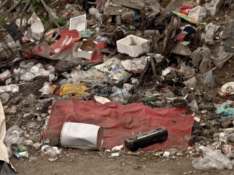 Italian ilegals camp misery stock photo