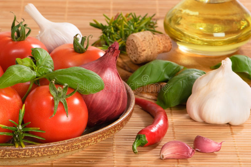 Italian Ingredients royalty free stock photos