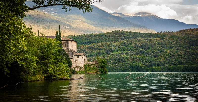 Italian lake house stock image