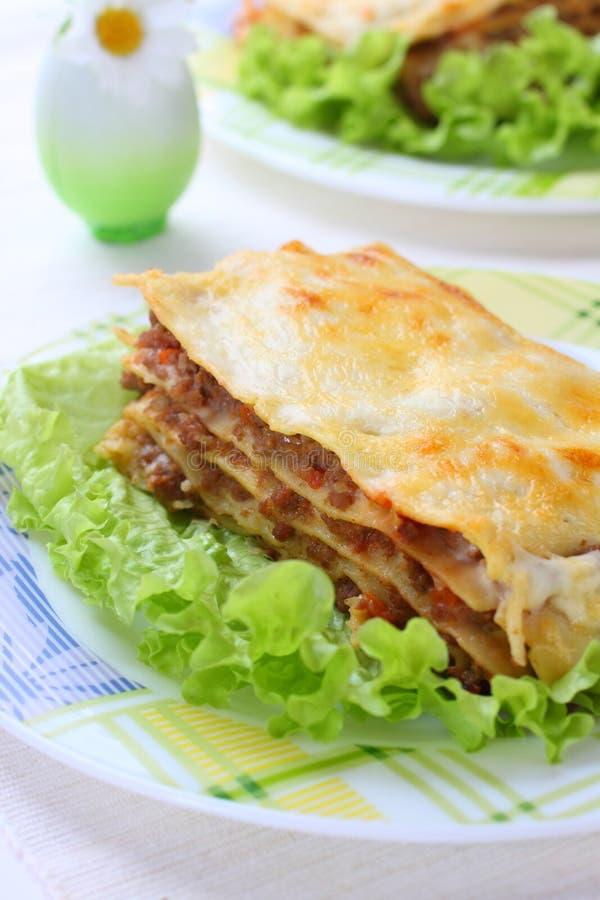 Italian Lasagna stock photos