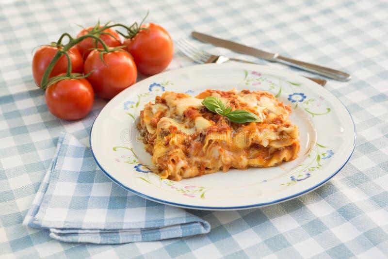 Italian Lasagne dish stock photography