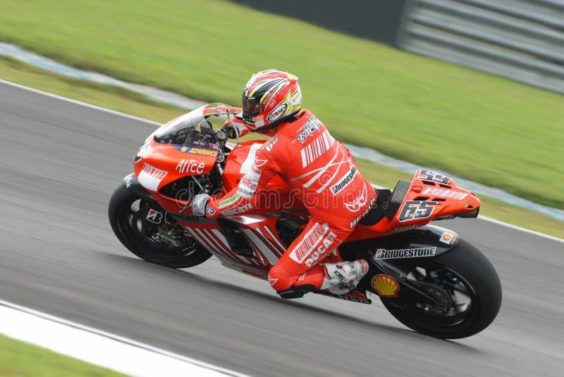 Italian Loris Capirossi Ducati Marlboro 2007 Polin stock image