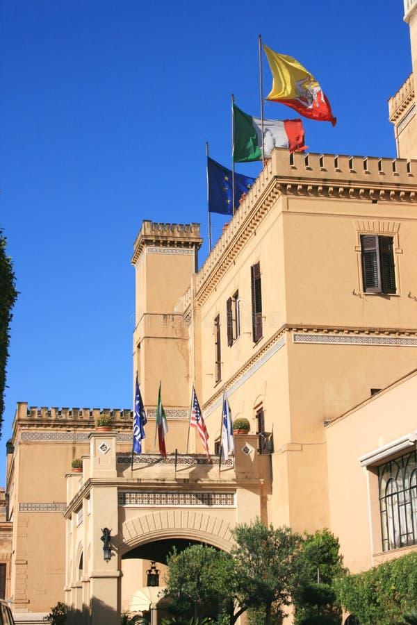 Italian luxury hotel entrance royalty free stock photos