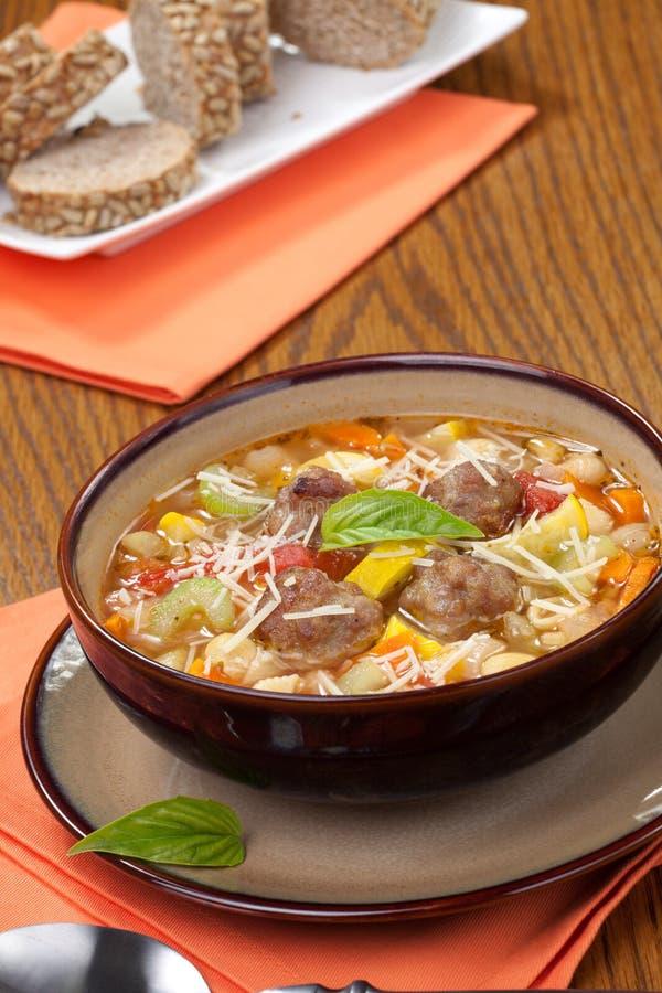 Italian Meatball Soup royalty free stock image
