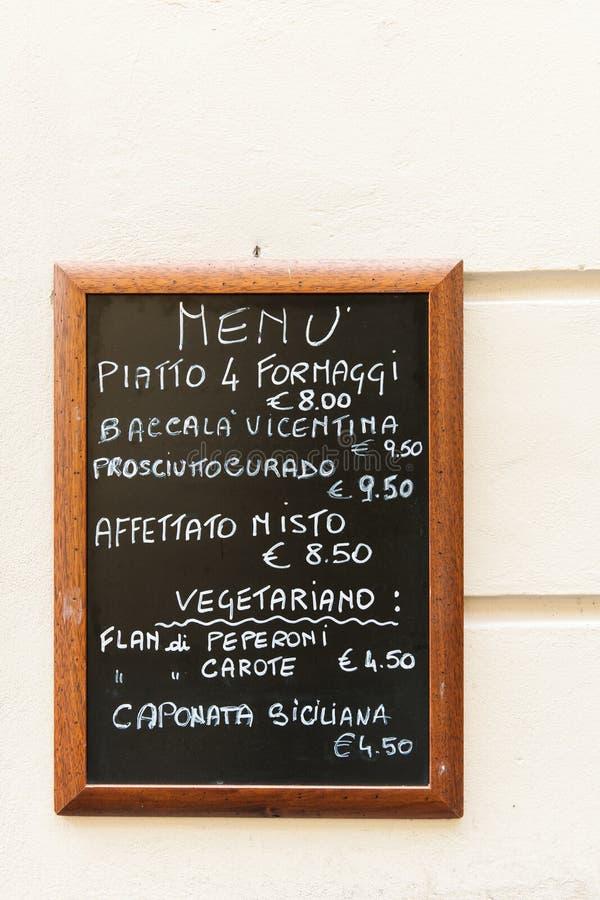 Download Italian Menu stock photo. Image of lunch, italian, menu - 23939602