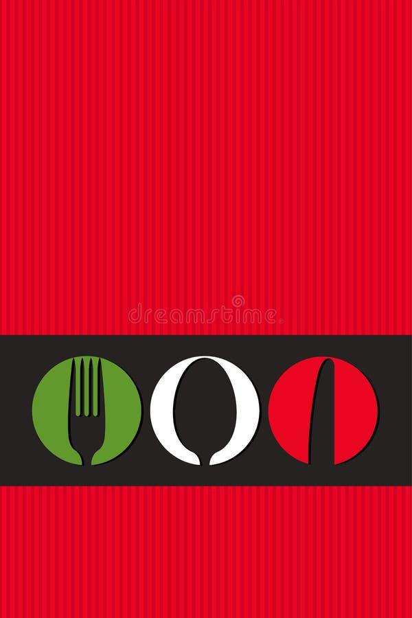Italian menu design stock illustration