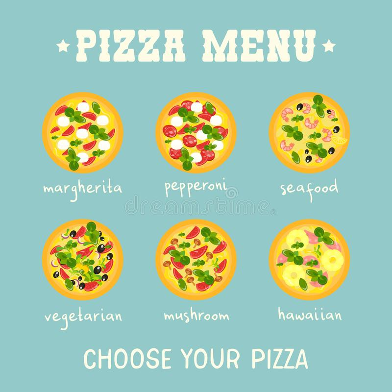 Pizza Menu royalty free illustration