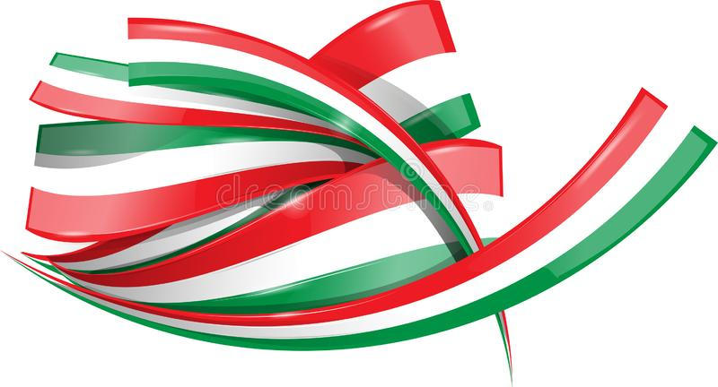 Italian and mexican shape flag royalty free illustration