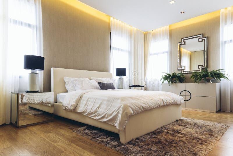 Italian Modern Model House : Bedroom stock image