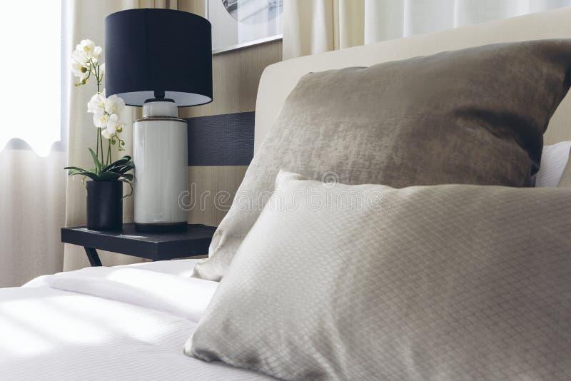 Italian Modern Model House : Bedroom royalty free stock photos