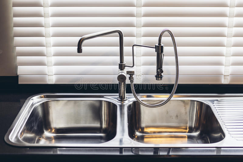 download italian modern model house   double aluminium kitchen sink stock photo   image  69607592 italian modern model house   double aluminium kitchen sink stock      rh   dreamstime com