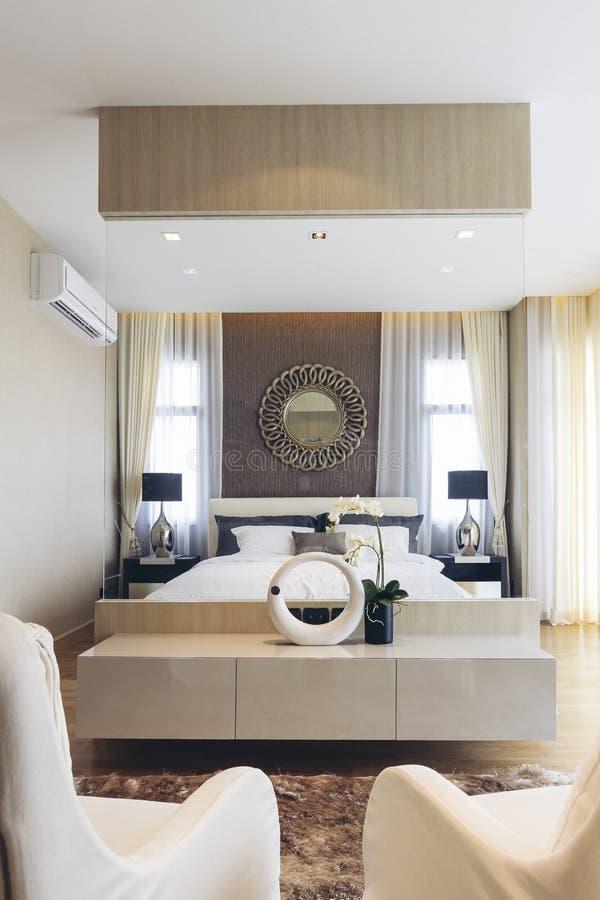 Italian Modern Model House : Master Bedroom royalty free stock photography