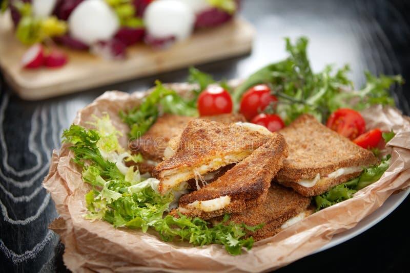 Italian Mozzarella in Carrozza stock image